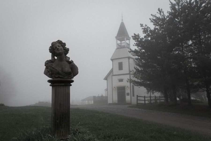 South River Winery in the fog